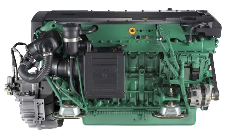 Volvo Penta D6-370 engine with HS80AE gearbox