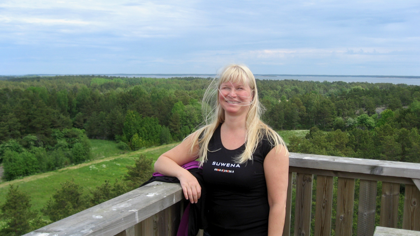 Eve at the lookout tower of Jurmo