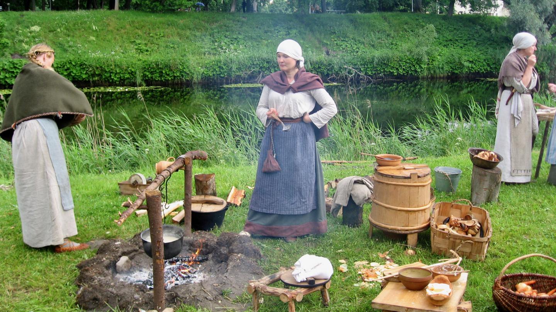 Ruoanlaittoa keskiajalla Hansapäivillä Pärnussa