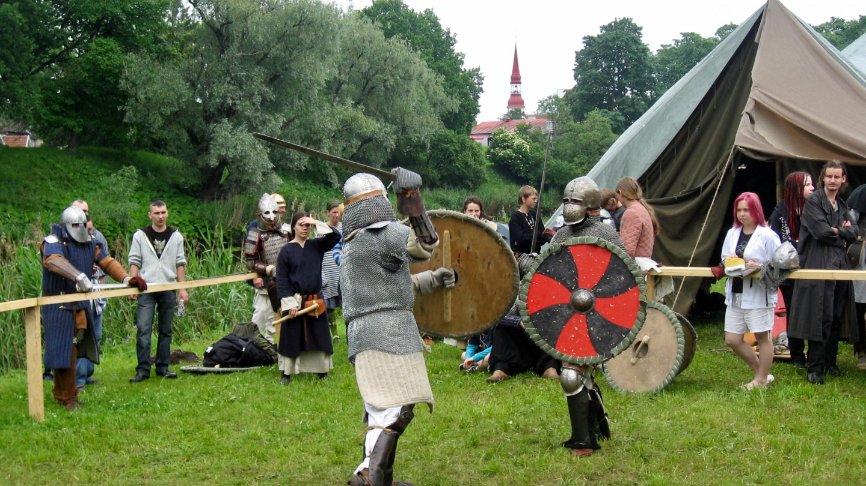 Knights fighting at Hansa festival in Pärnu