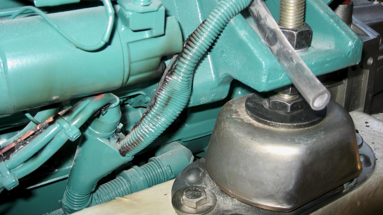 Suwenan moottorin palaneet sähköjohdot