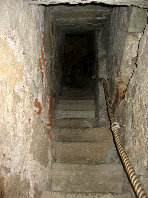 Stairs in the castle of Kuressaare