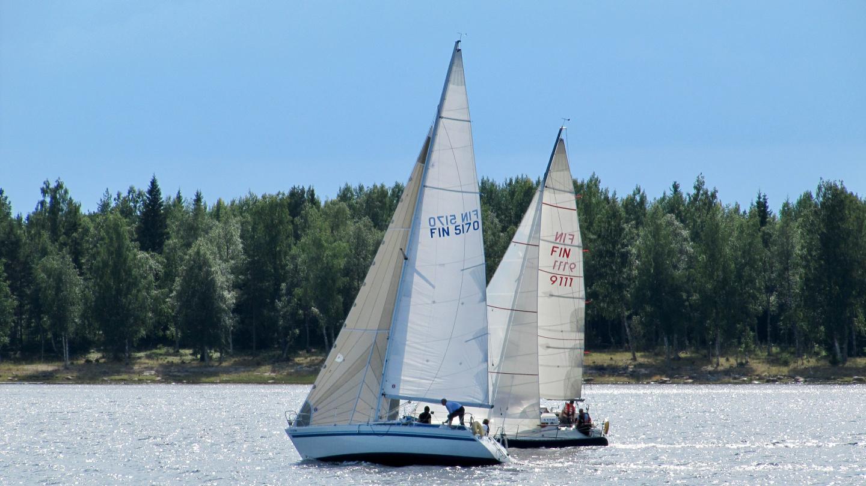 Finishing line of Nautilus Cup at the island of Röyttä
