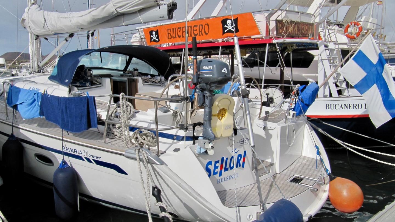 Seilori in the marina of Las Galletas in Tenerife