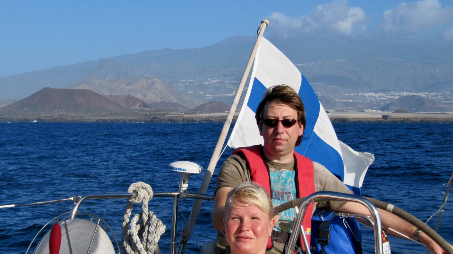 Sailing on boxing day in Tenerife