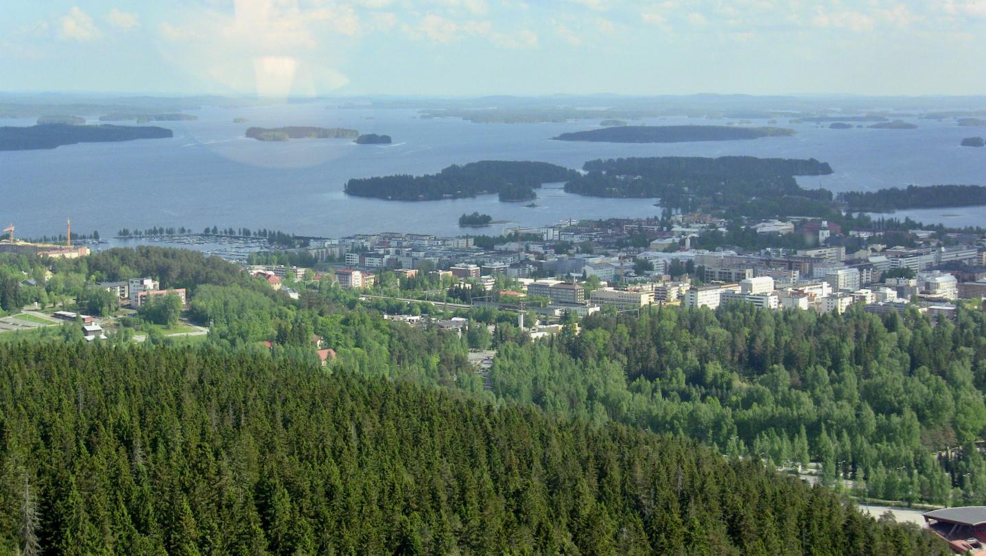Kuopio and lake Kallavesi