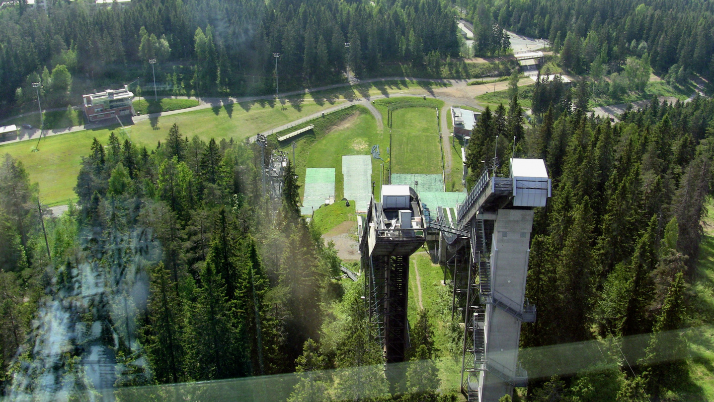 Ski jumping tower of Puijo in Kuopio
