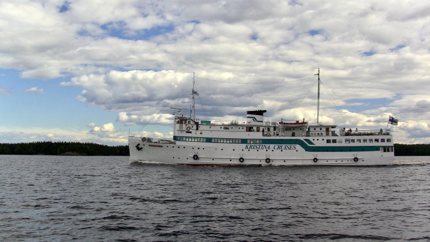 Kristiina Cruises on a way from Helsinki to Savonlinna