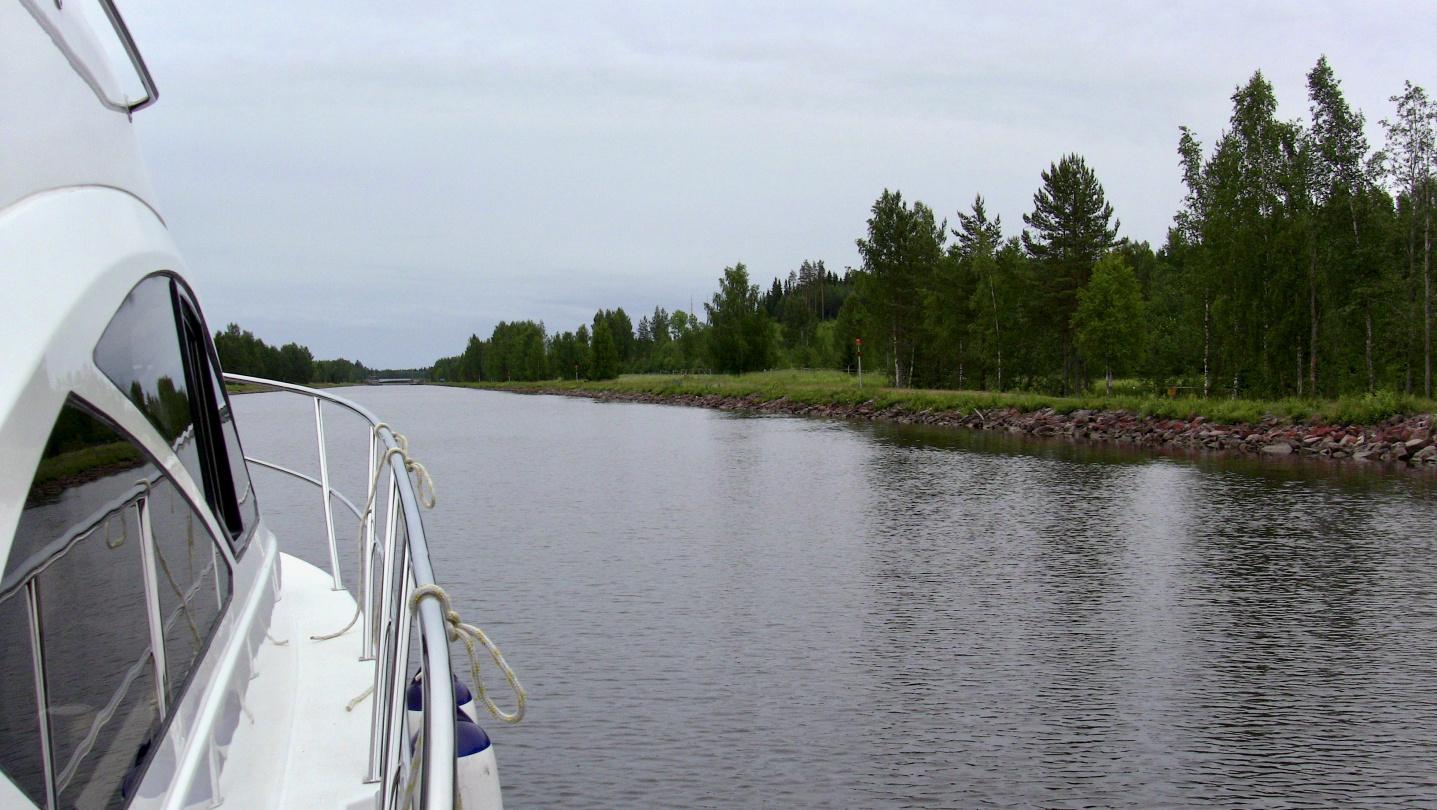 The scenery of Saimaa canal