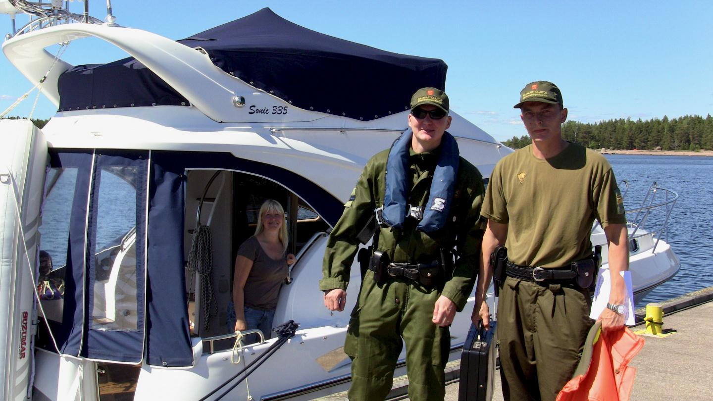 Suomen rajavartijat Santiossa