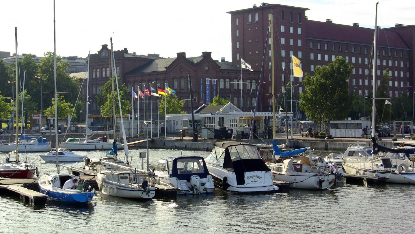 The marina of Helsinki Motor Boat Club