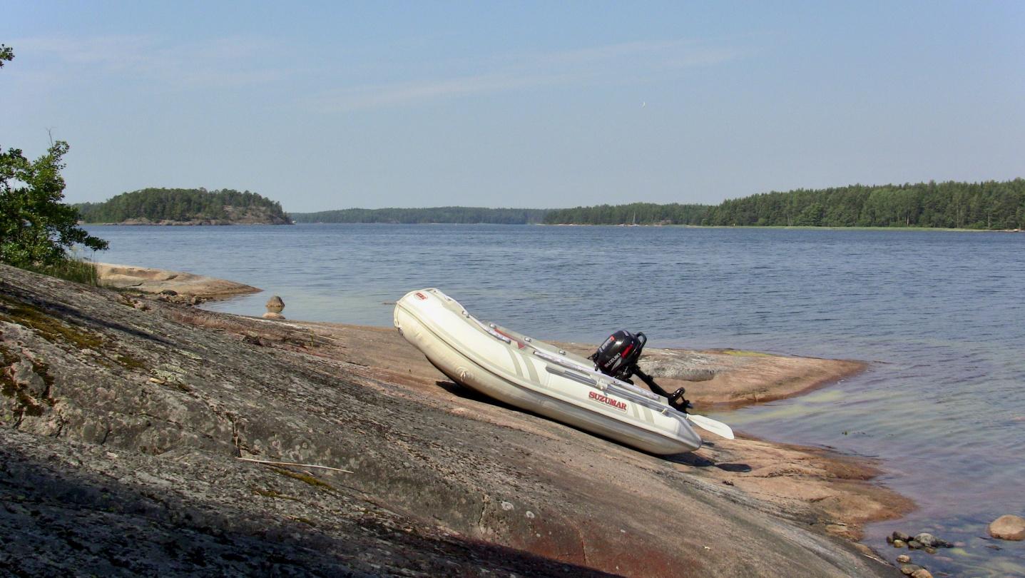 Pikku Suwena on the rock of the island of Andersskär