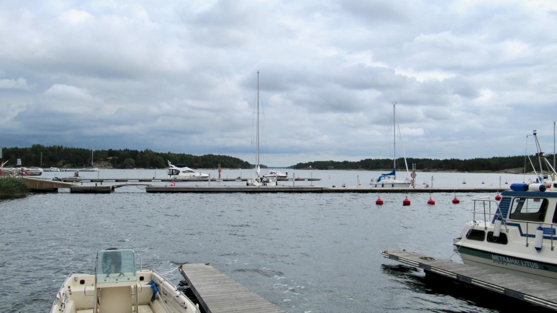 Elokuussa Korpoströmin satamassa tilaa riittää