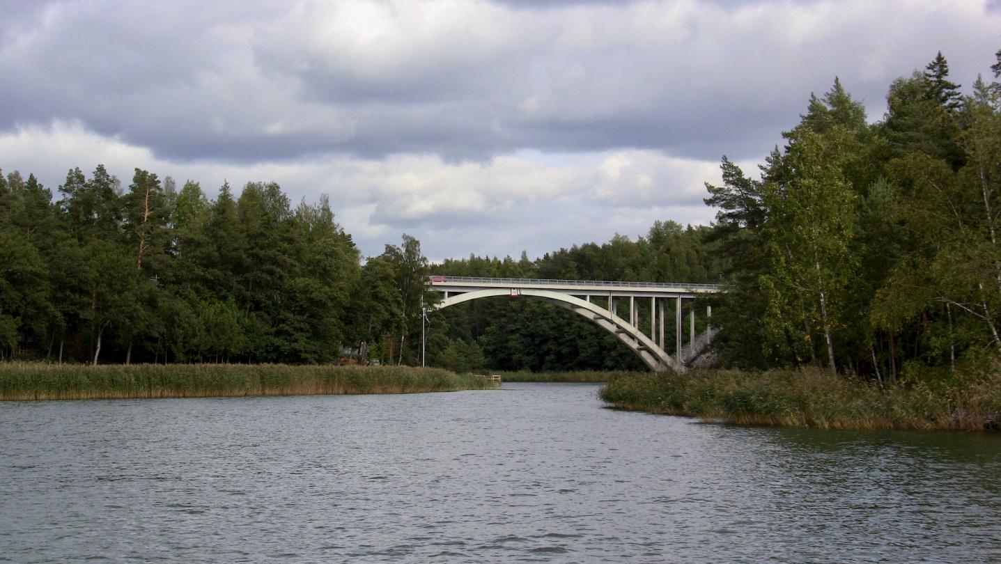 The bridge of Sattmark on a way to Parainen