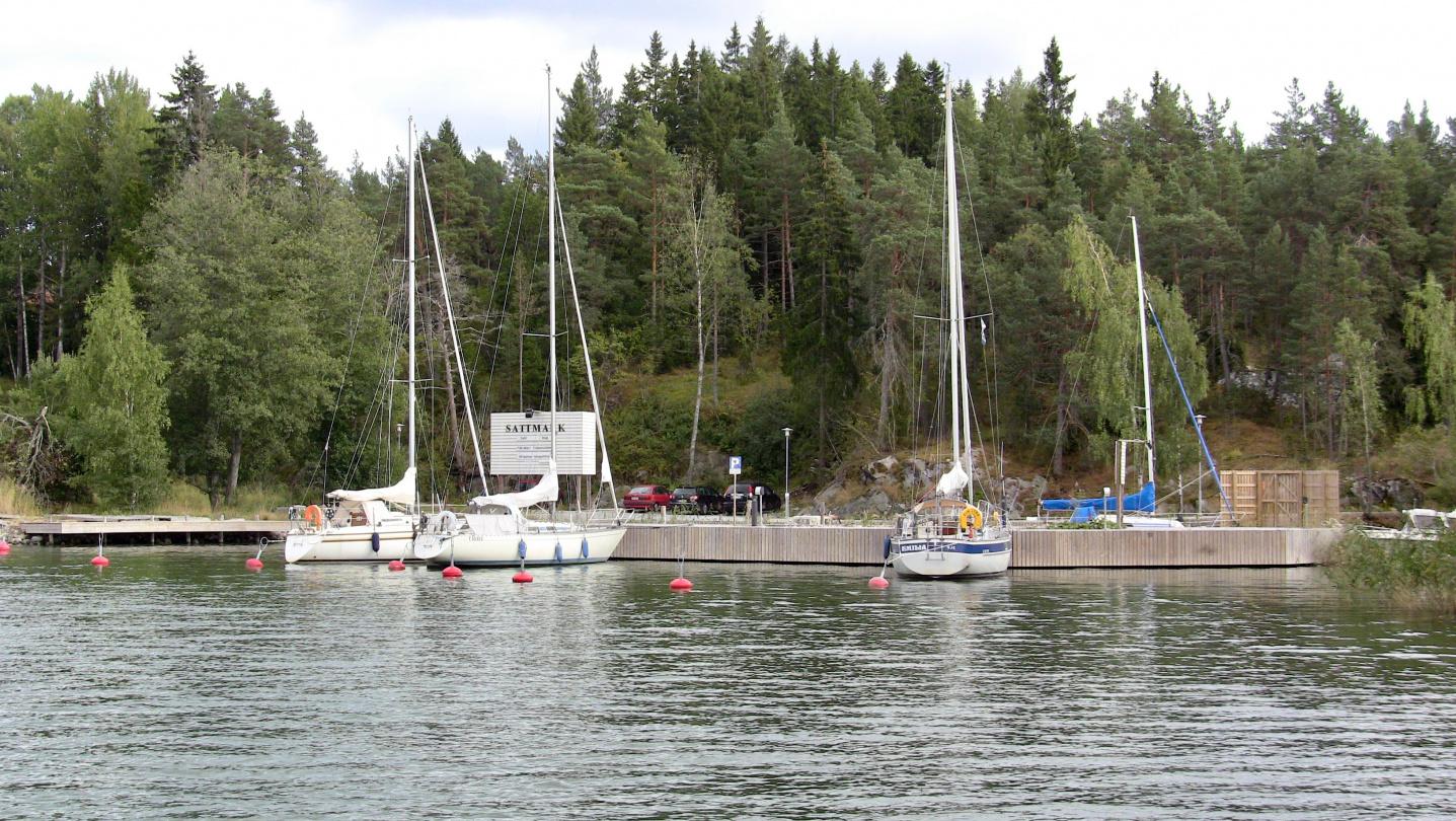 The marina of Sattmark