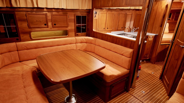 Nauticat 441 salon and galley