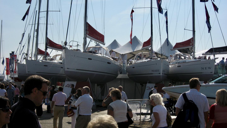 Beneteau sailboats in Southampton Boat Show
