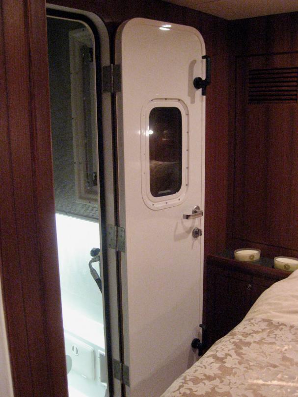 Soundproof door to engine room of Nordhavn 43