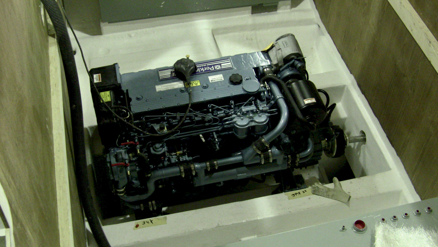 Perkins M225Ti engine installed