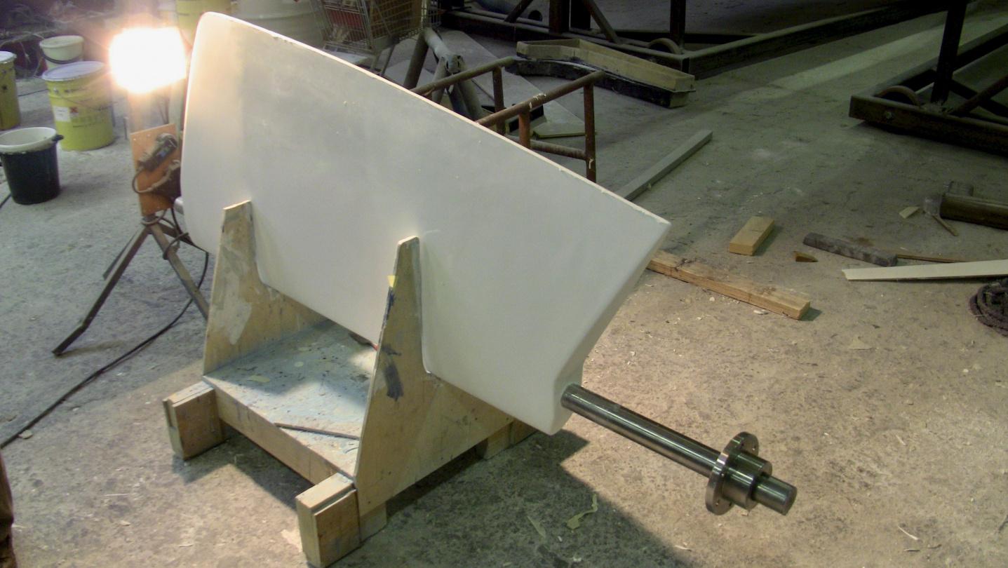 The rudder of Nauticat 441