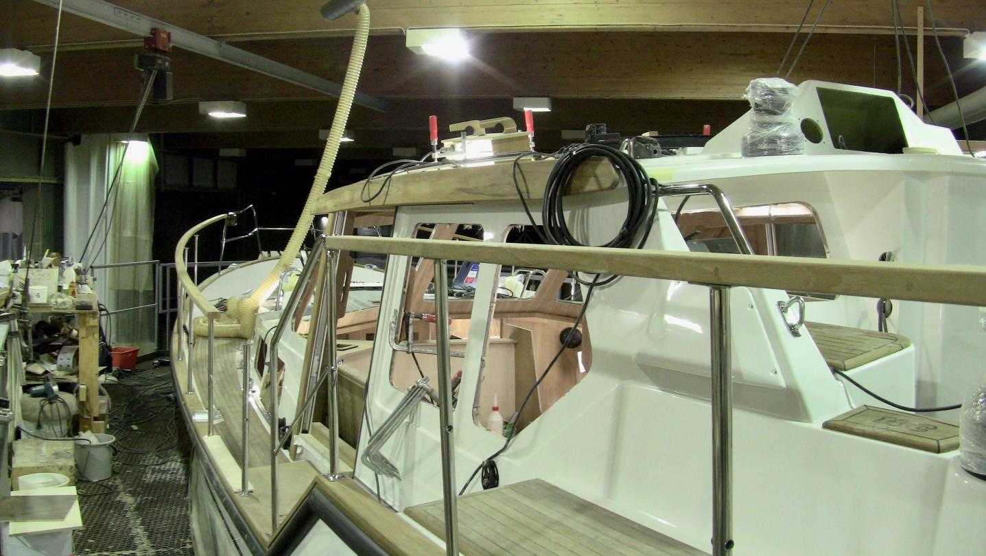 Suwena rakenteilla Nauticatin veistämöllä