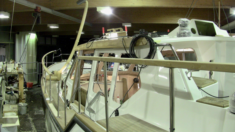 Suwena in Nauticat Yachts boatyard