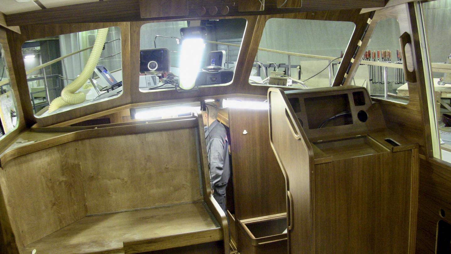 Nauticat 441 interior nearing completion