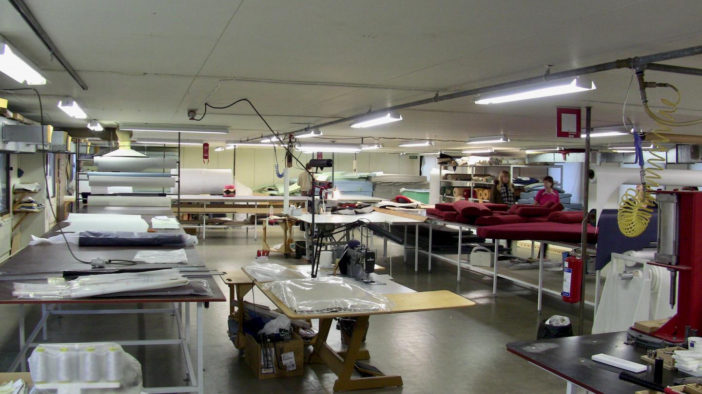 The sewing shop of Nauticat Yachts