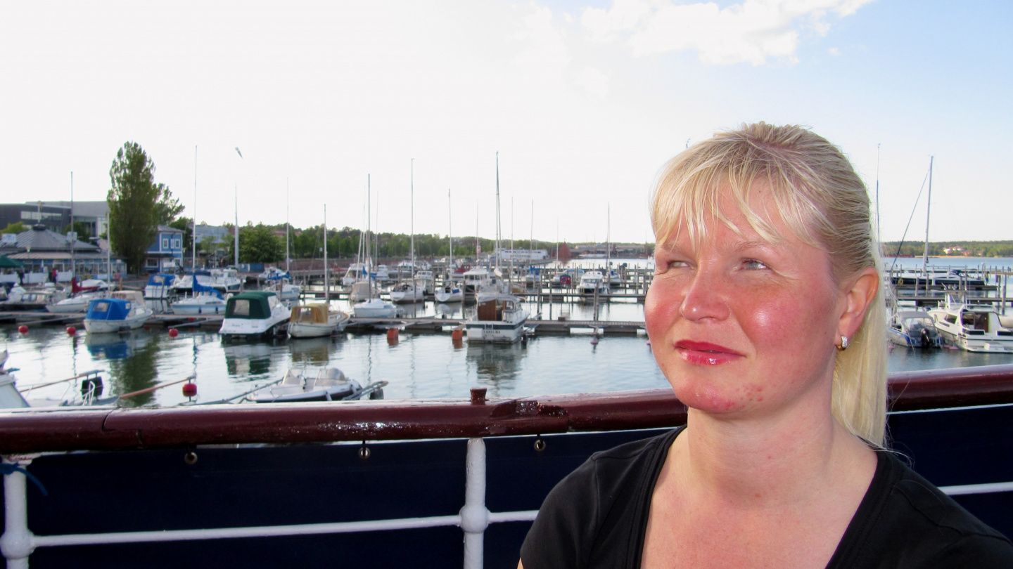 Eve in Mariehamn's East harbour