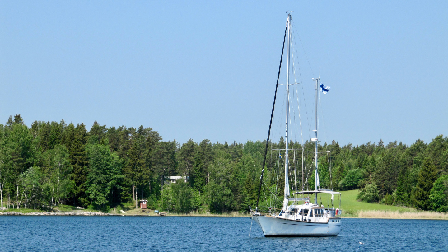 Suwena in the anchorage of Vätö island