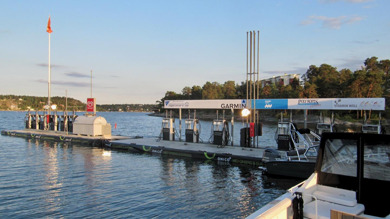 KSSS:n polttoainepumput Saltsjöbadenissa