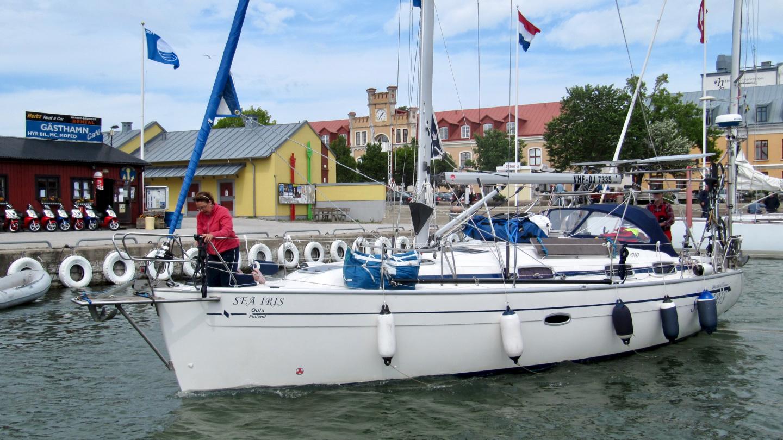 Sea Iris lähdössä Visbystä kohti Kanariaa