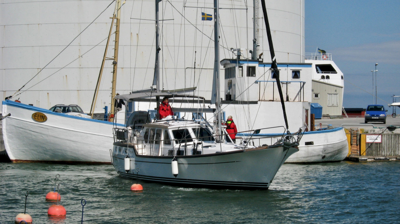 Suwena saapumassa Visbyn satamaan