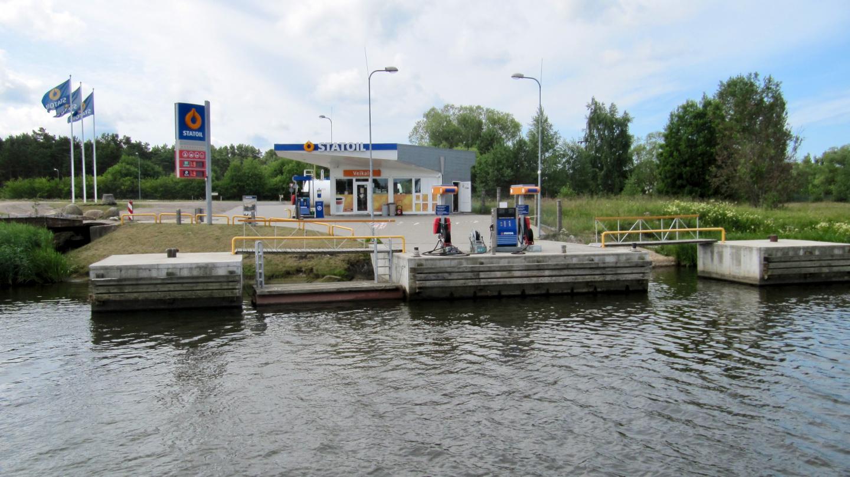 Statoil's boat fuel station in Pavilosta