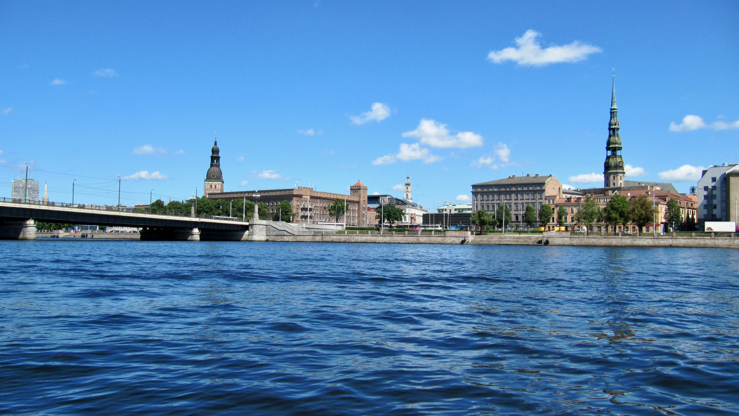 Riga as seen from river Daugava