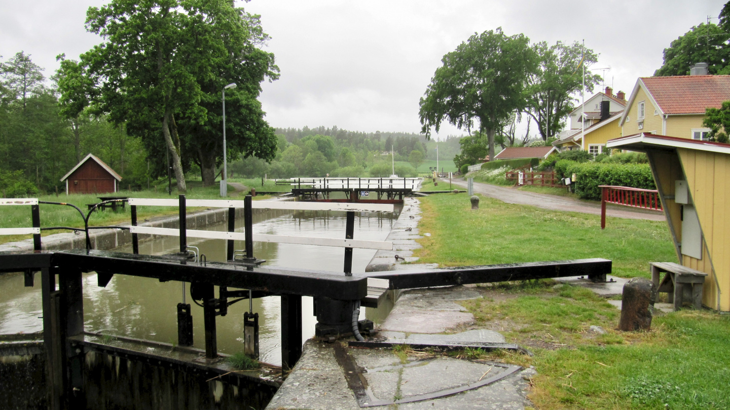 The lock of Mem in the Göta canal