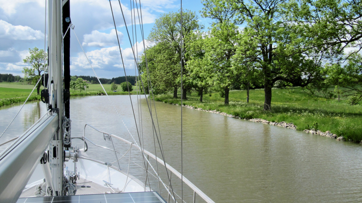 The scenery of the Göta canal