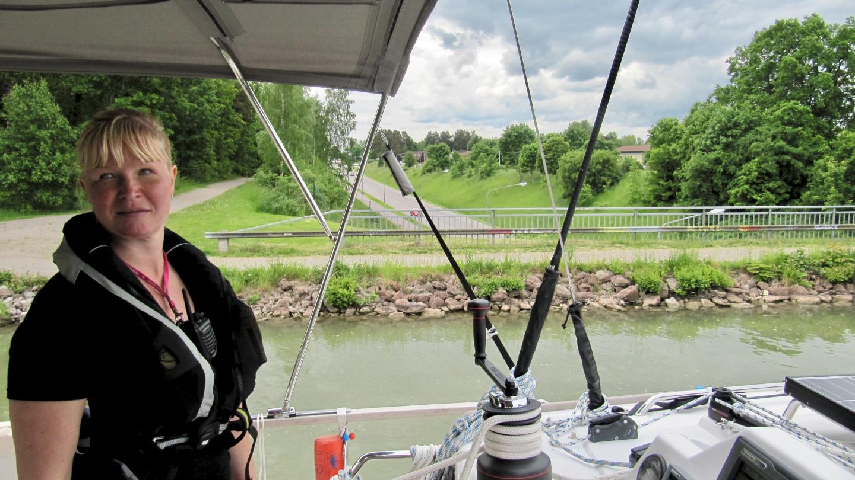 Eve ja Suwena akveduktilla Göta kanavalla