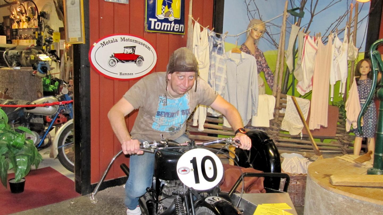 Andrus in the Motala Motormuseum