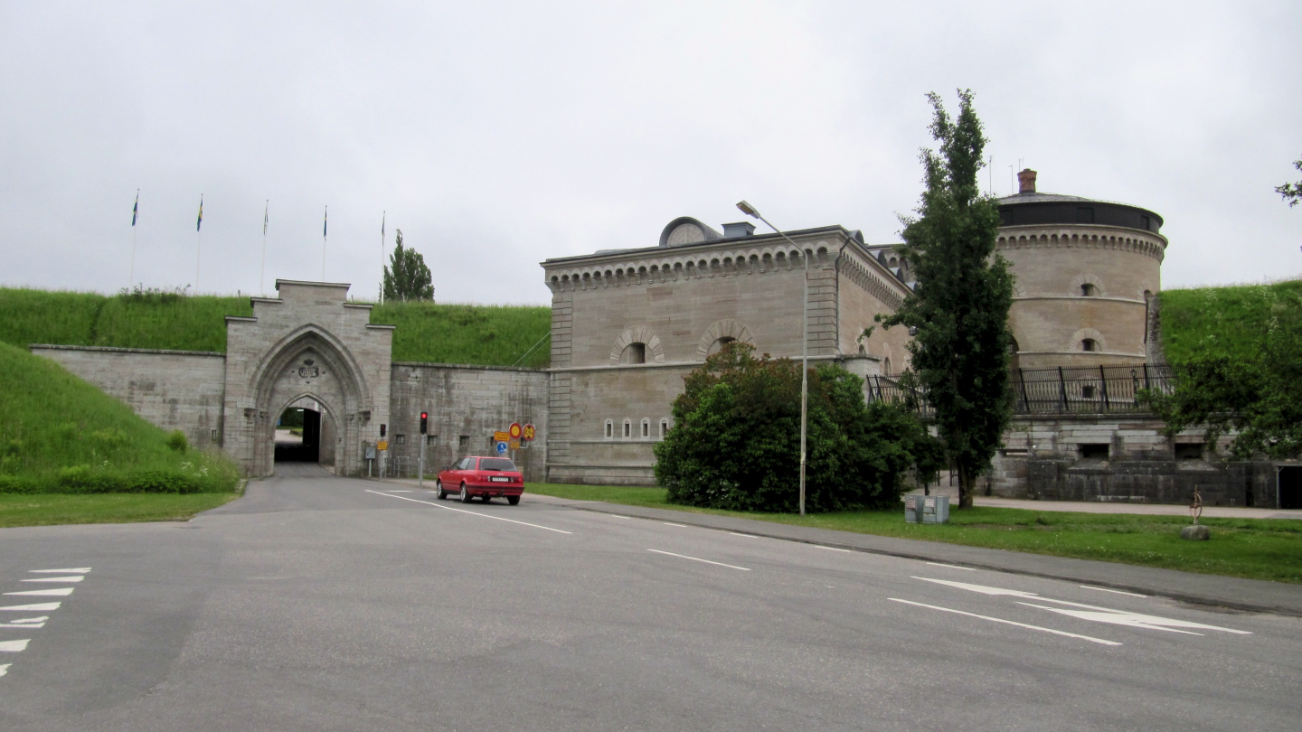 The main entrance of the Karlsborg fortress