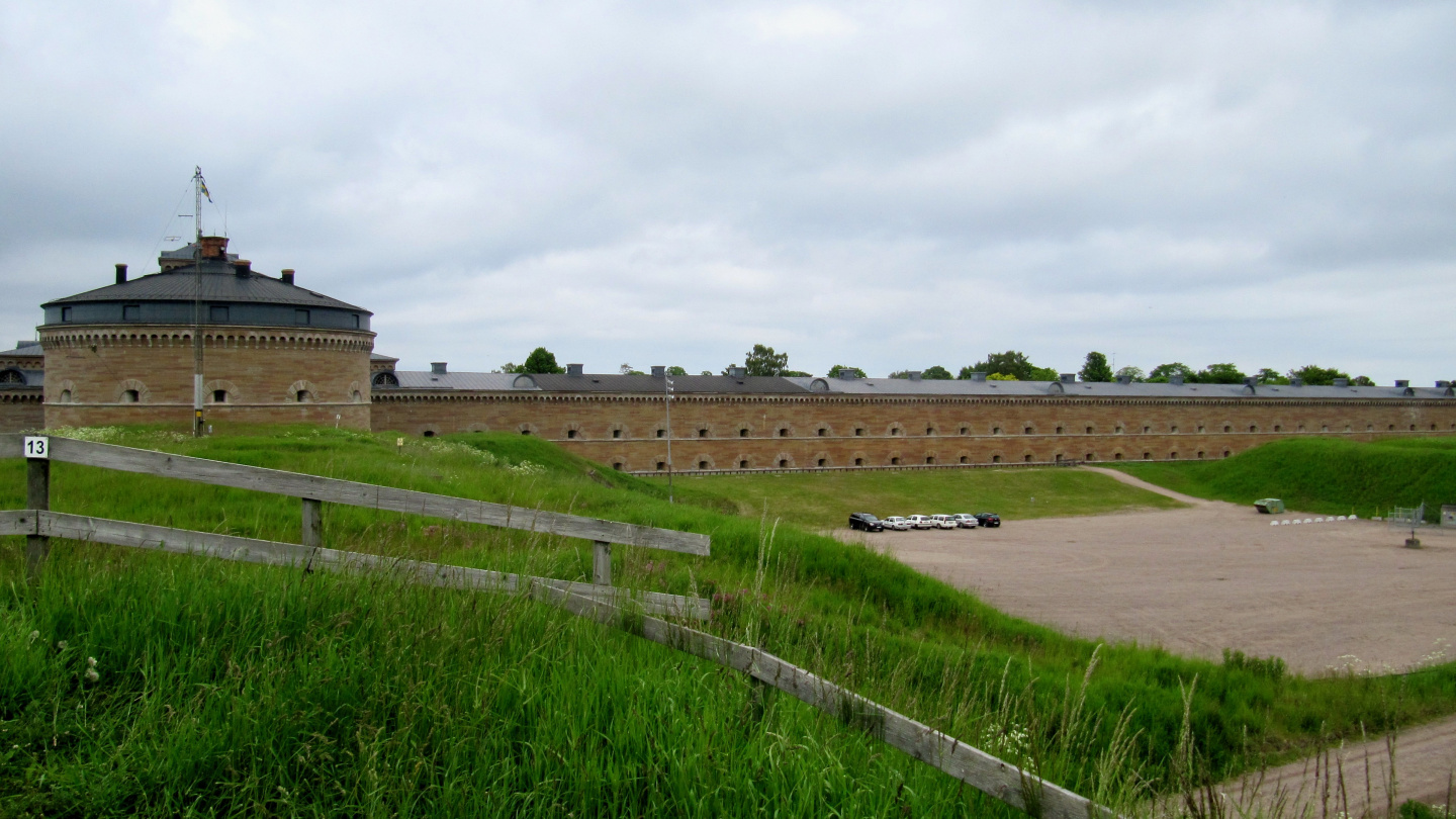 Short part of the main building in Karlsborg fortress