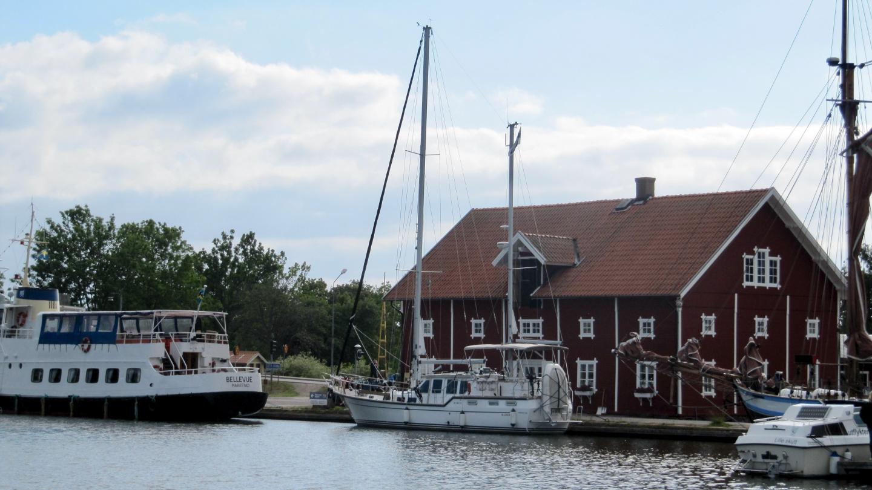 Suwena in the upper harbour of Sjötorp