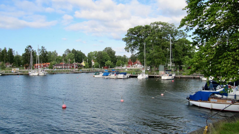 Sjötorpin alasatama Vänern järven rannalla