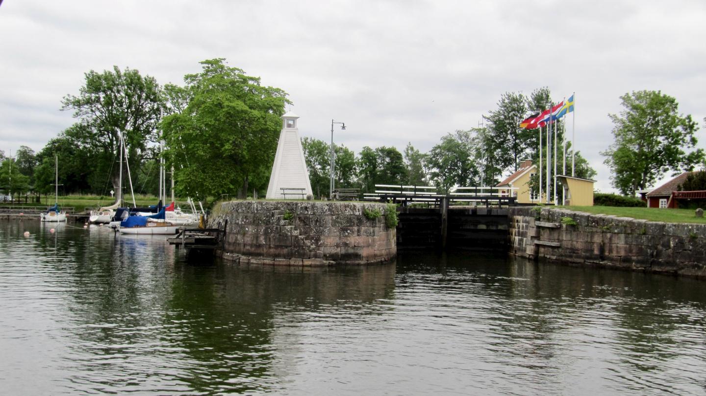 The last lock of the Göta canal, Sjötorp 1
