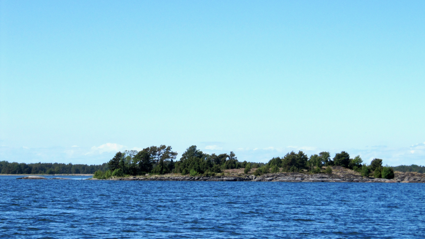 Lurö archipelago in the middle of lake Vänern