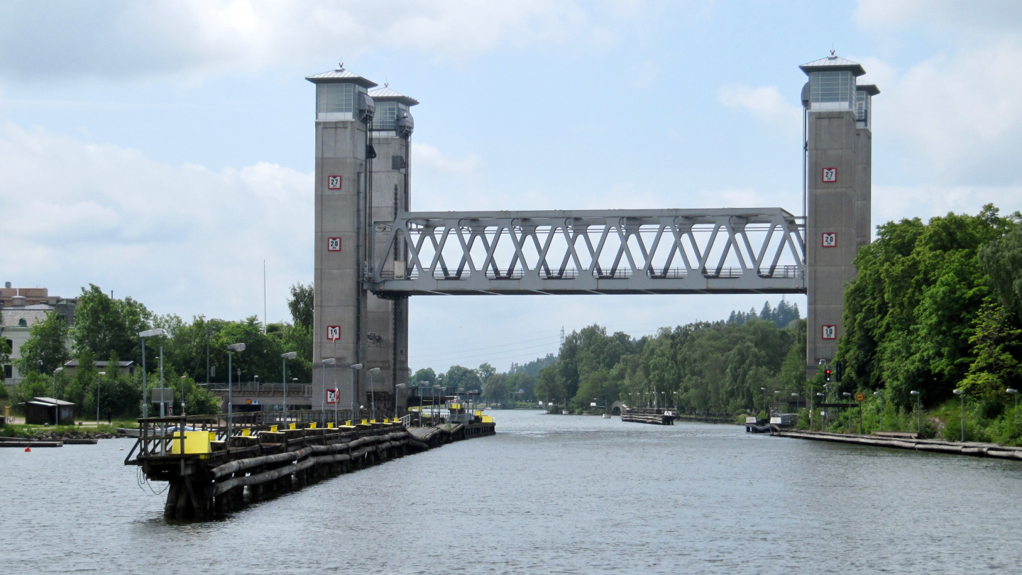 Railway bridge on the river Göta