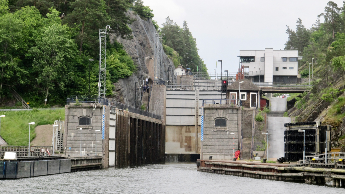 Flight of three locks in Trollhättan