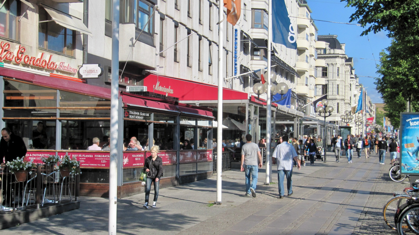 Restaurants in the Avenue of Gothenburg