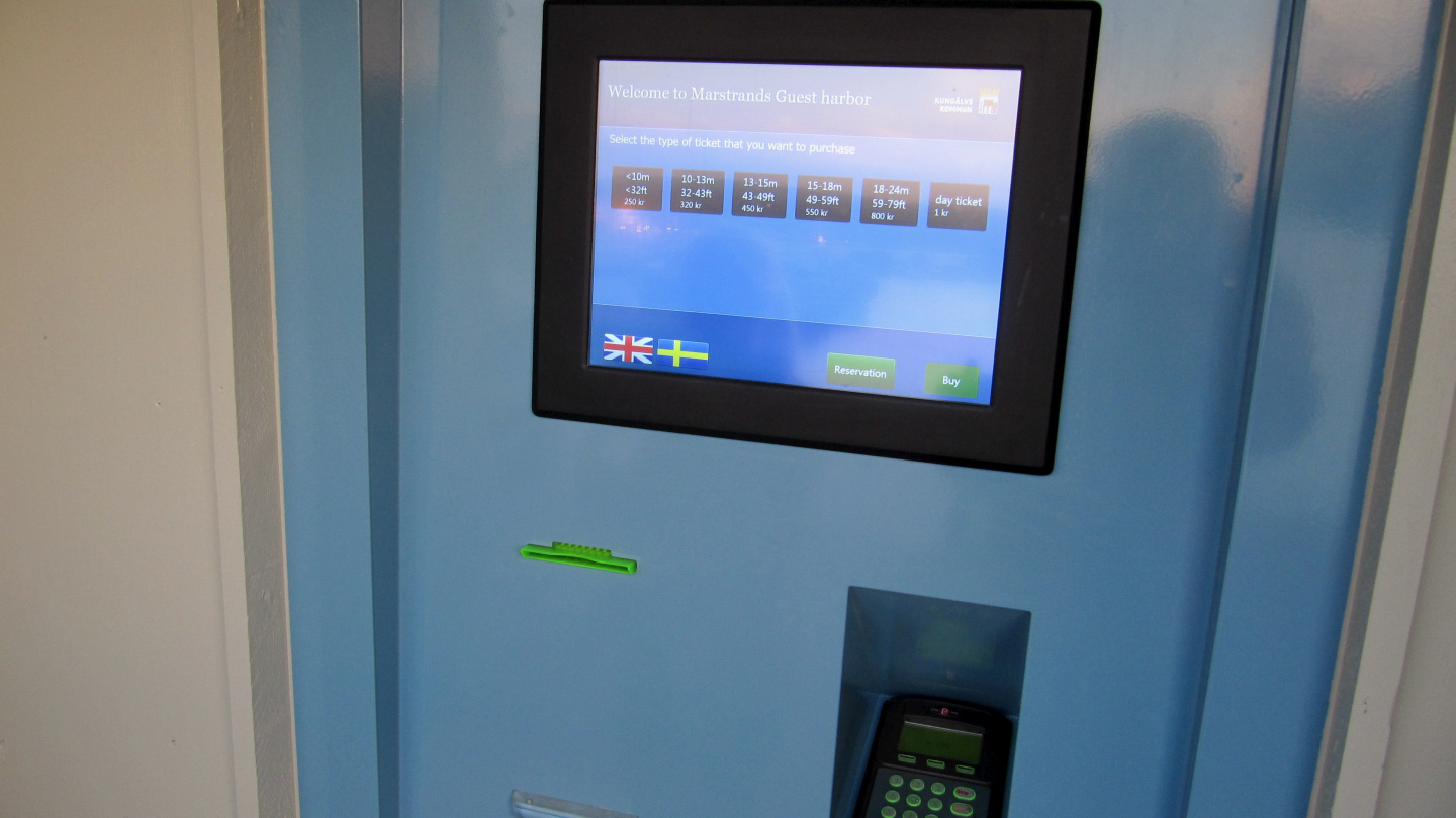 Harbour fee paying ATM in Marstrand