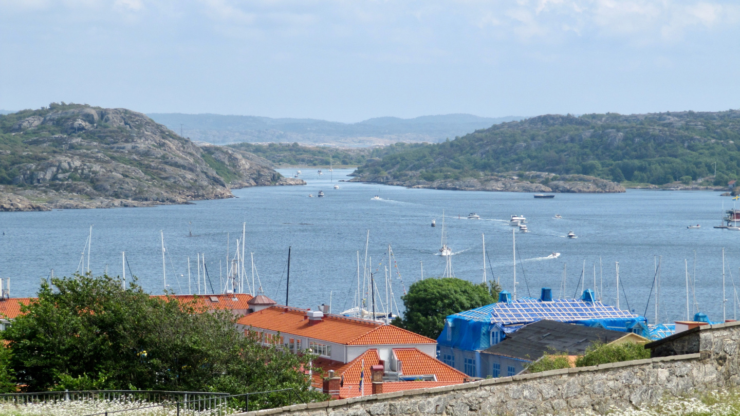 Boats arriving at Marstrand for celebrating the Midsummer
